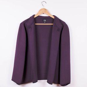 Eileen Fisher plum purple crinkle blazer jacket